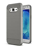 Чехол Carbon для Samsung J5 2015 J500 J500H бампер оригинальный Gray