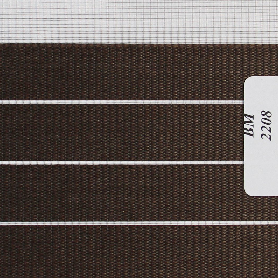 Рулонные шторы День Ночь Ткань Зебра ВМ-2208 Шоколад