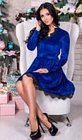 Платье цвета электрик бархатное