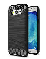 Чехол Carbon для Samsung G530 / G531 / Galaxy Grand Prime бампер Black