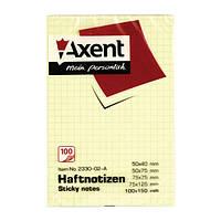 Блок бумаги с липким слоем в клетку, 100х150, 100л. Axent 2330