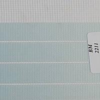 Рулонные шторы День Ночь Ткань Зебра ВМ-2211 Голубой
