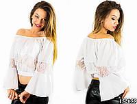 Белая блуза 152055