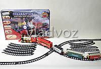 Детская игрушечная железная дорога поезд, настоящий дым, звук, свет прожектора Express