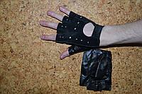 Перчатки без пальцев замшевый верх