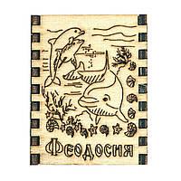 """Сувенирные спички на магните - дерево """"Дельфины"""" Феодосия"""