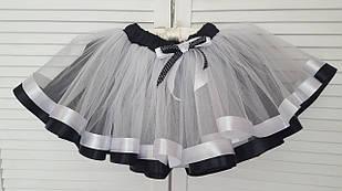 """Нарядная фатиновая юбка  """"WHITE&BLACK"""""""