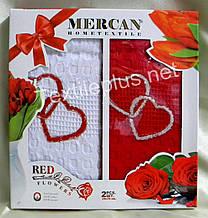 Полотенца вафельные кухонные - Mercan - Red - 2 шт. 50*70 100% хлопок - Турция -