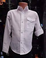 Рубашка школьная белая для мальчиков,возраст 6-12 лет,S954