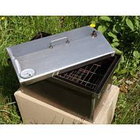 Коптильня с гидрозатвором для горячего копчения B домиком с термометром