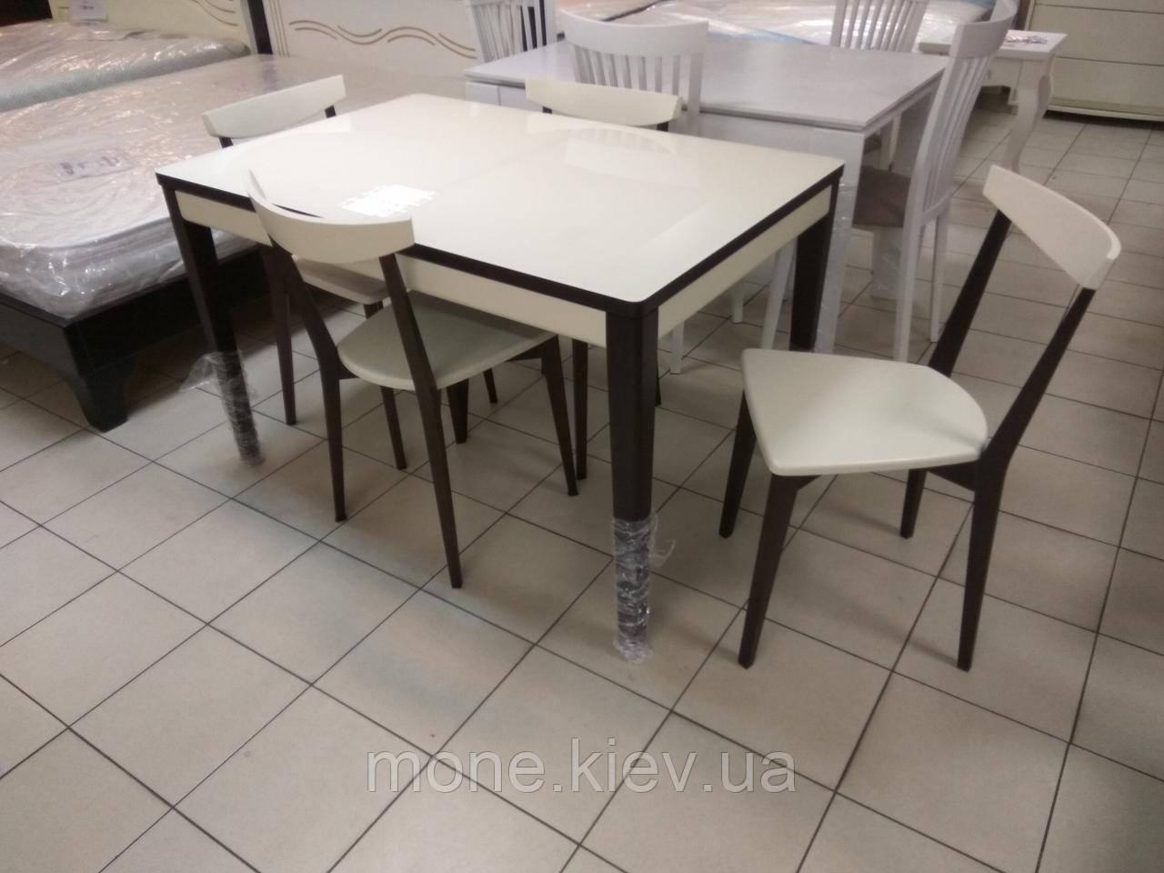 """Стол и 4 стула """"№1"""" из массива ясеня"""