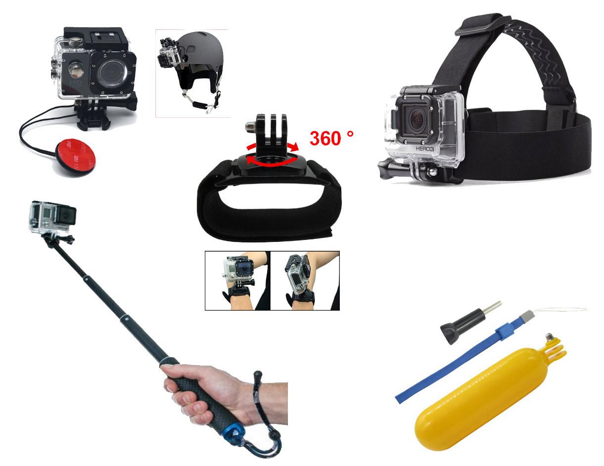 Набор аксессуаров N4 для экшн камер SJCAM, GoPro, Xiaomi, Atrix, Airon, EKEN