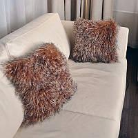 Подушки диванные из натурального меха ламы, украинское производство, фото 1