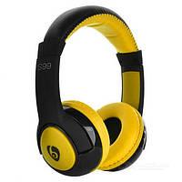 Bluetooth наушники с микрофоном MP3 FM S99 Черно-желтые