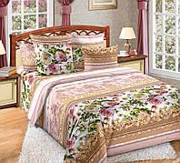 Двуспальное постельное белье с простыню на резинке 160/200/34 - Аделина, бязь ГОСТ 100%хлопок
