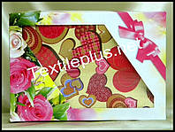 Вафельные полотенца Textile plus 6шт 75*35 Love (kod 3011)