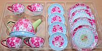 Набор посуды металлический чайный набор children's tin tea set арт. LN236A