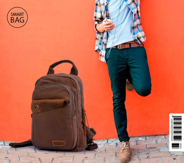 Рюкзак через одно плечо Augur | коричневый