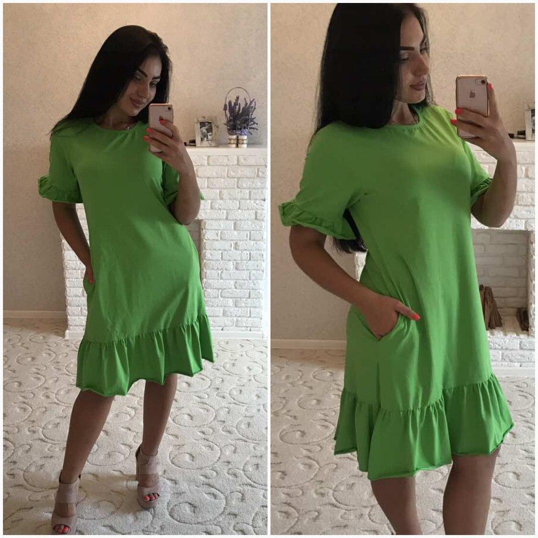 7f139fbec51 Женское летнее батальное платье до колен - Enigma Shop интернет-магазин  женской одежды в Одессе