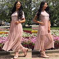 Платье тм Enneli Размер S M L Ткань трикотаж и польская сетка.(17007)