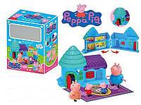 """Игровой набор для девочек Домик """"Свинка Пеппа"""" (ZY-693) герои 4шт, раскладной, с аксесс., в коробке"""