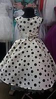 Нарядное детское платье в горохи