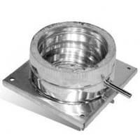 Подставка напольная для дымохода нержавейка D-125/200 мм толщина 0,6 мм AISI 304