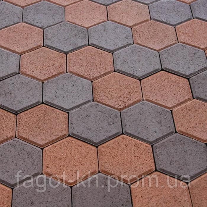Тротуарная плитка Квадра Сота