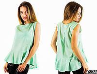 Мятная блуза 15366