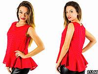 Красная блуза 15366