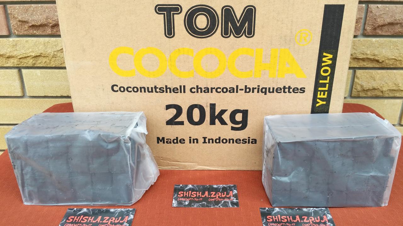 Уголь кокосовый 1кг (72 кубика) TOM COCOCHA