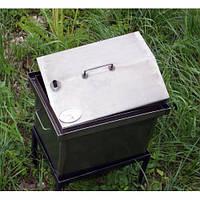 Коптильня с гидрозатвором для горячего копчения S домиком с термометром