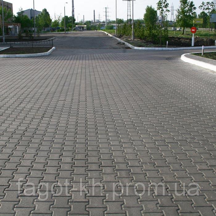 Тротуарная плитка Квадра Двойное Т
