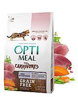 Optimeal for Carnivores Duck & Vegetables 4кг- беззерновой корм для кошек с уткой