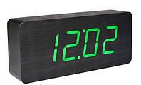 Часы светодиодные настольные 1299 ( зеленая подсветка)