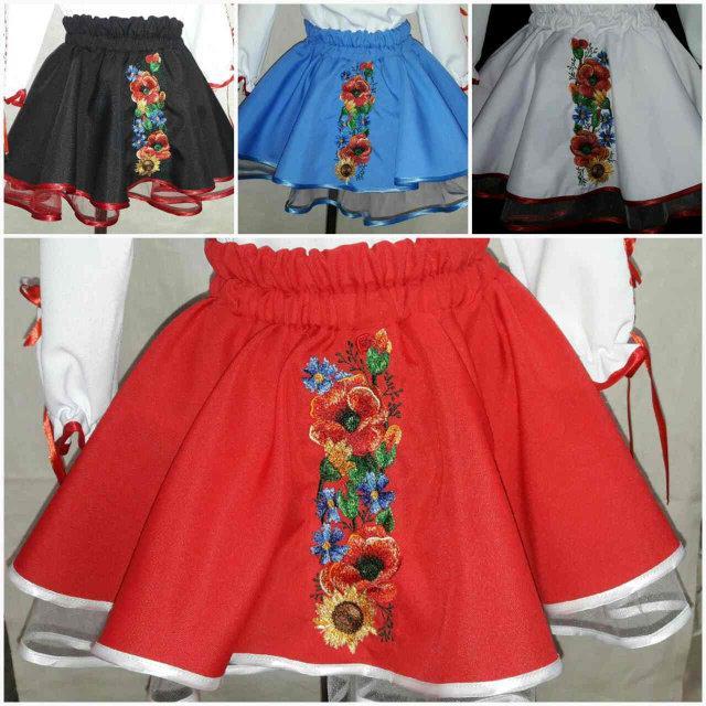 a38954365922dc Красная детская юбка с вышивкой, 3-12 лет, , цена 340 грн., купить в ...