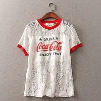 Футболка женская ажурная Coca Cola