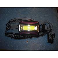 Фонарик налобный  LED 2016-COB