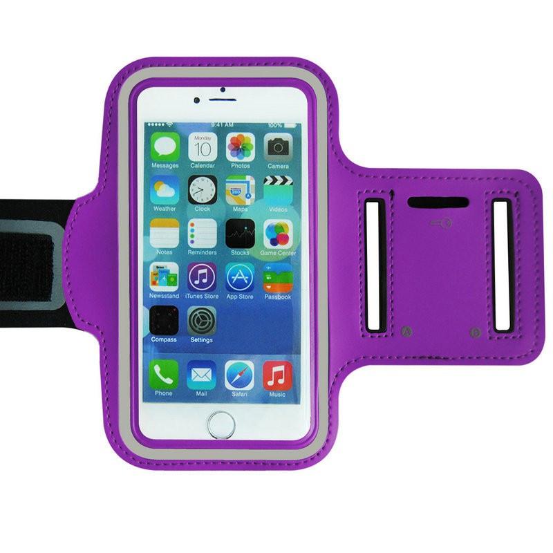 """Наручный Чехол KLL  для телефона 5"""" - 6.3"""" на руку для бега фиолетовый"""