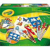 Набор для творчества Crayola с трафаретами, фломастерами и восковыми мелками