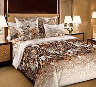 Семейное постельное белье с простыню на резинке 180*200*34  Леопард, бязь ГОСТ 100% хлопок