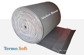 Материал для теплоизоляции с клеем. Izolon Base 04 самоклеющийся, полотно ППЭ НХ+клей-4мм.
