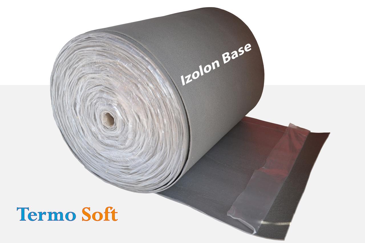 Материал для теплоизоляции и шумоизоляции самоклейка. Izolon Base 05 самоклеющийся, полотно ППЭ НХ+клей-5мм.