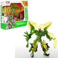 Трансформер J8021 робот + динозавр, кор., 38-35-14 см.