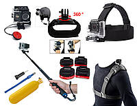 Набор аксессуаров N5 для экшн камер SJCAM, GoPro, Xiaomi, Atrix, Airon, EKEN