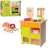 Дерев'яна іграшка Кухня MSN13025 плита, мийка, посуд, кор., 48-39-17,5 см.