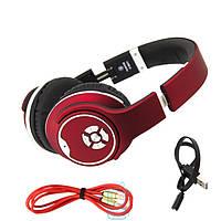 Bluetooth наушники с микрофоном MP3 FM SMART MH1 красные