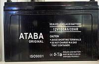 Aккумулятор ATABA 12V - 100A, для солнечных батарей, фото 1