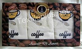 Полотенца махровые кухонные - Sokoculer - Coffee - 3 шт. - 40*60 - 100% хлопок - Турция - (kod1696)