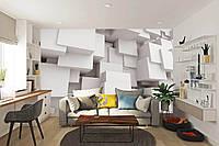 3Д фотообои на стену Белые кубы